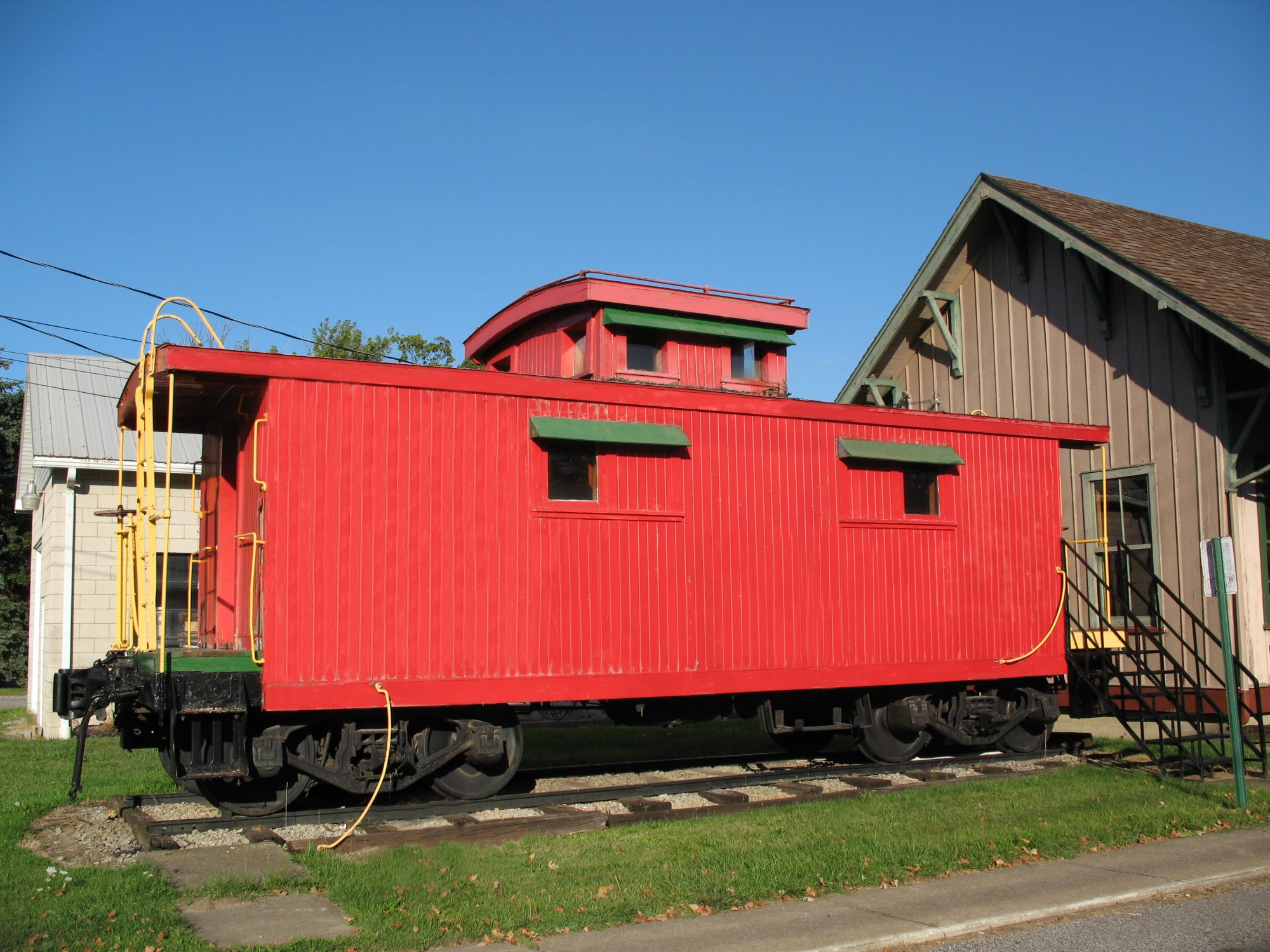 first office, smithville caboose, Wayne County Community Foundation
